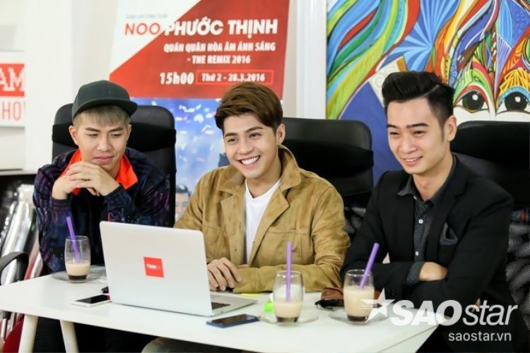 Tân quán quân Noo Phước Thịnh và team 07 rạng rỡ trong buổi phỏng vấn đầu tiên tại Saostar