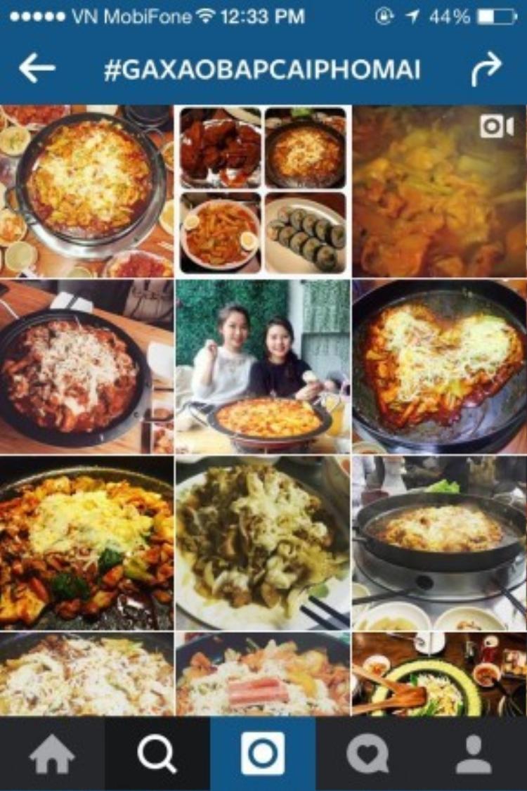 """Trên Instagram, hastag #gaxaobapcaiphomai trở nên """"hot xình xịch"""" khi liên tục được cập nhật với loạt ảnh đầy hấp dẫn, thú vị của món ăn này."""