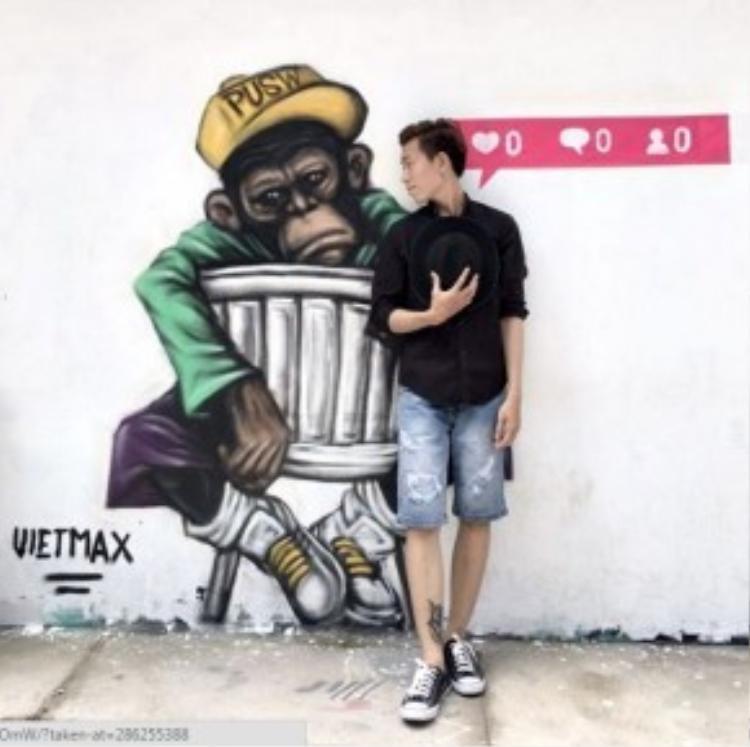 Các bức tranh Graffiti cực chất tạo nên những góc chụp sáng tạo và ấn tượng.