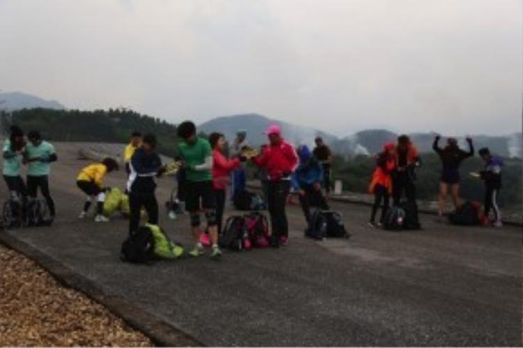 Các đội thi đã sẵn sàng cho chặng đua tại Yên Bái.