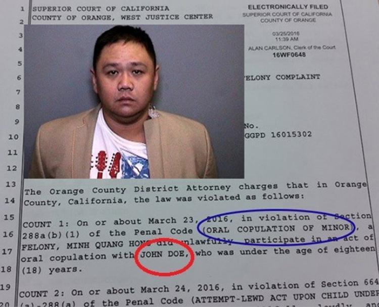 John Doe  nạn nhân bị xâm hại trong vụ án Minh Béo là ai?