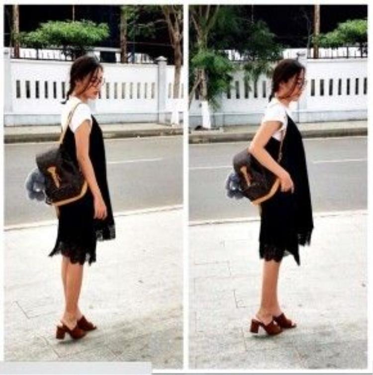 Văn Mai Hương dẫn đầu hot-trend váy ngủ kết hợp cùng áo sơ mi. Đây là combo đang khiến nhiều tín đồ thời trang mê mẩn. Cô nàng nâng tầm cho bộ trang phục bằng chiếc ba lô Louis Vuitton đính thú nhồi bông cùng giày mules thời thượng.