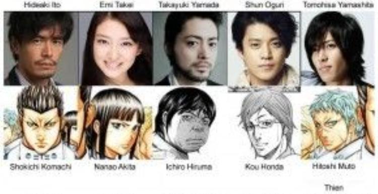 Dàn diễn viên trong Terra Formars