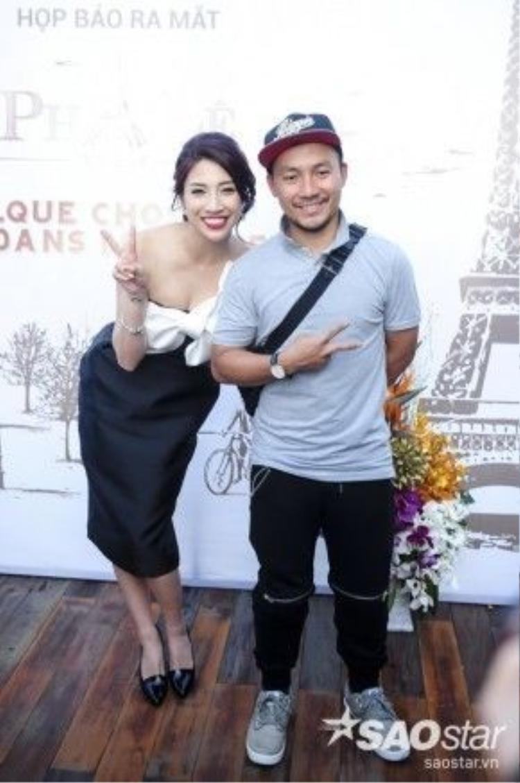 Nữ ca sĩ Pha Lê và Tiến Đạt.