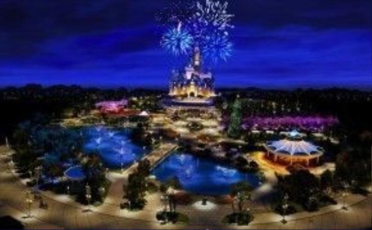 Điểm đến ao ước của trẻ em - Khu vui chơi Disneyland Thượng Hải.