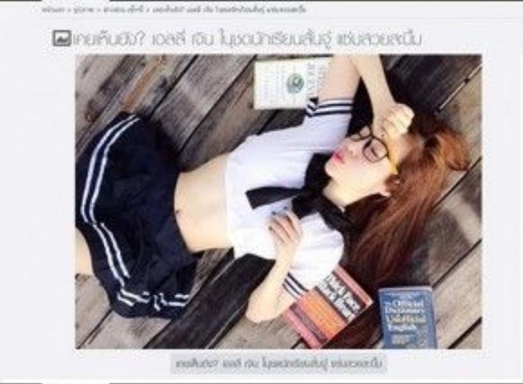 Trang Kapook của Thái Lan từng đăng tải một loạt hình ảnh gợi cảm Elly Trần trong bộ đồng phục học sinh vào tháng 10/2015.
