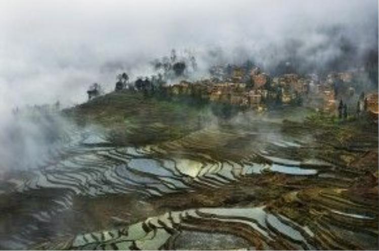 Đây là khu vực có lịch sử lên tới 1.200 năm. Vùng trung tâm của ruộng bậc thang nằm ở huyện Nguyên Dương, thuộc châu Hồng Hà, miền nam tỉnh Vân Nam. Khu vực này rộng 1 triệu ha và khu vực được công nhận là di sản thế giới của UNESCO có diện tích khoảng 16.603 ha.