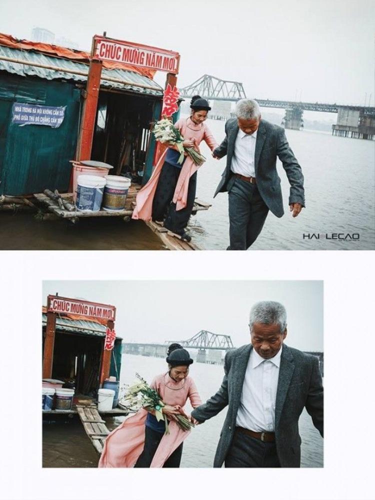 Bộ ảnh cưới gây xúc động của hai cụ già nhặt rác sau 50 năm sống chung