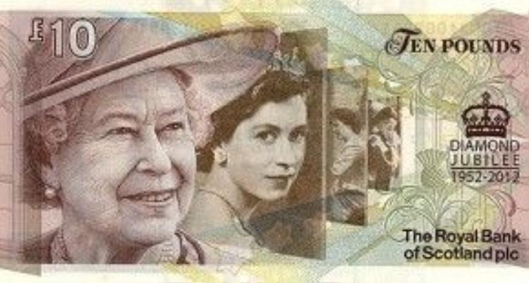Tiền phát hành nhân dịp đại lễ kim cương của Nữ hoàng Elizabeth II