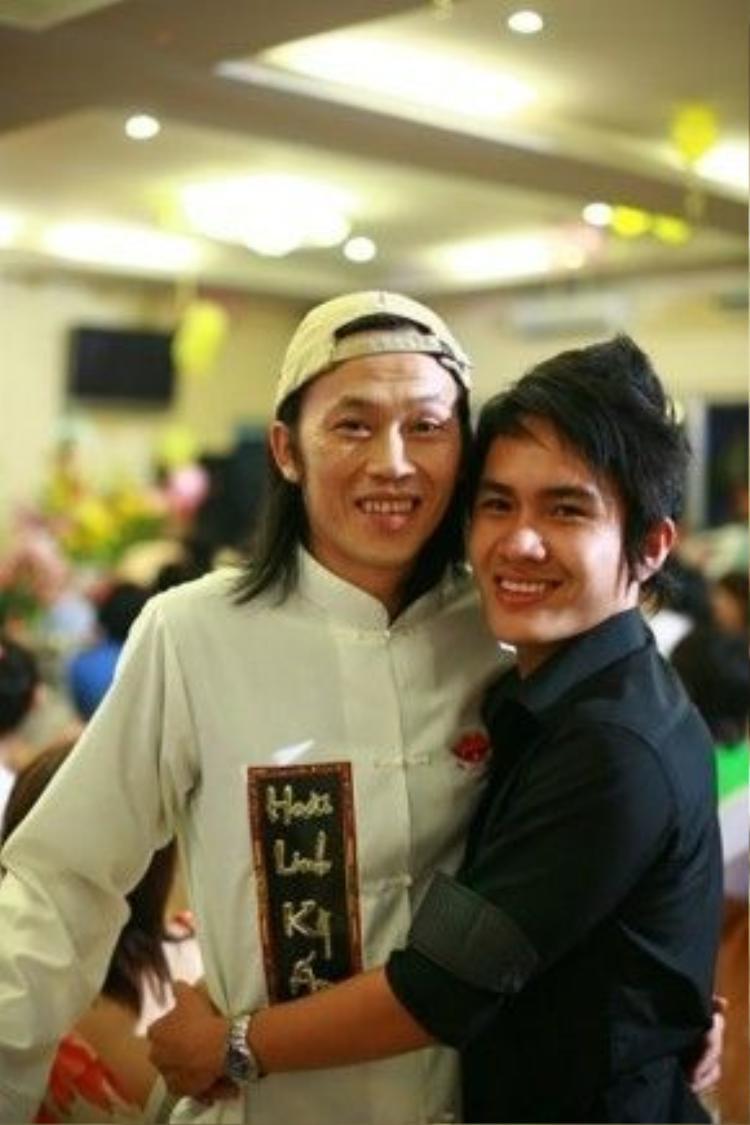 Thành Vinh và cha Hoài Linh.