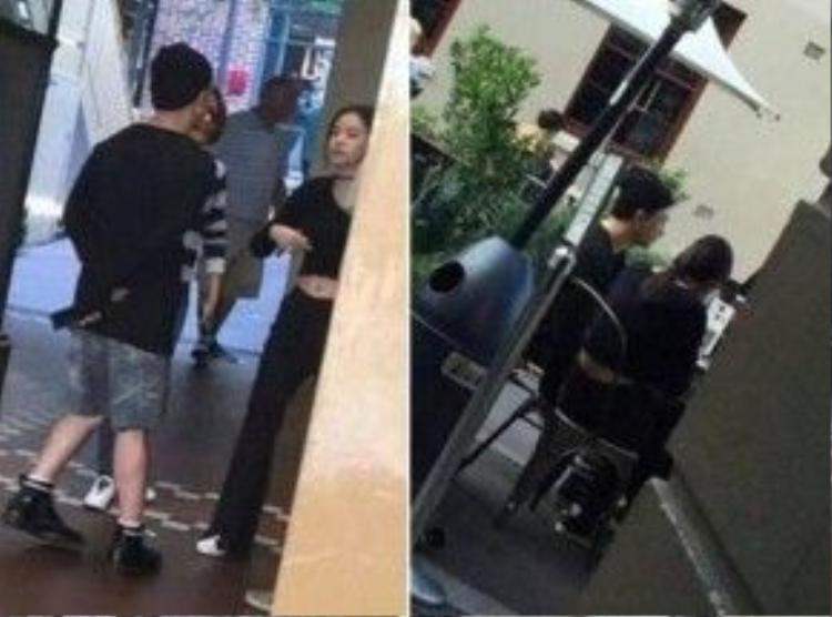Hai người bị một fan bắt gặp ở Úc.