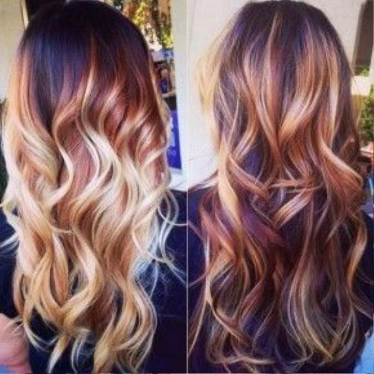 Nhuộm ombre là cách giúp màu tóc tông natural có hiệu ứng 3D rõ nhất.