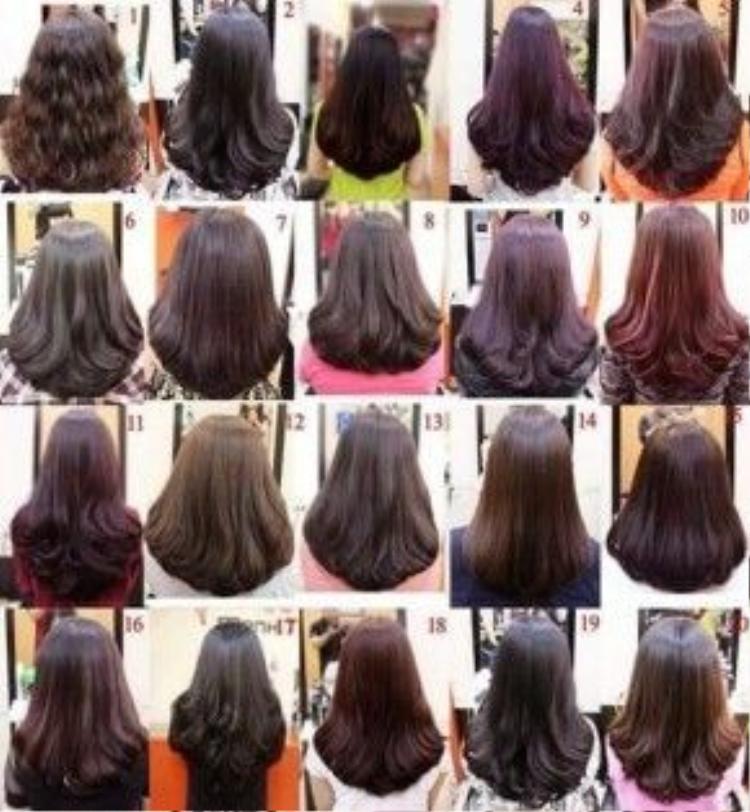 Nếu không thích tông tự nhiên màu tóc châu âu, hãy chọn cho mình một tông nâu thích hợp như trong hình.