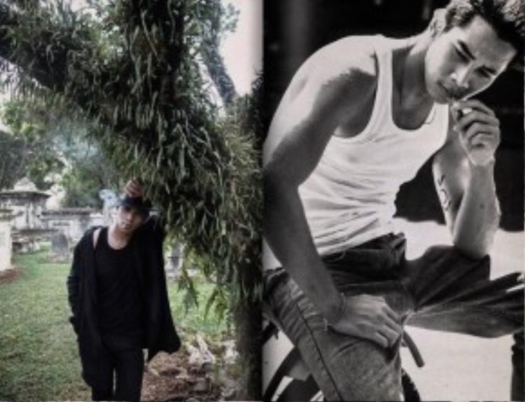 """Chàng """"Hot boy nổi loạn"""" Hồ Vĩnh Khoa khoe vẻ phong trần, cá tính trong bộ ảnh mới."""
