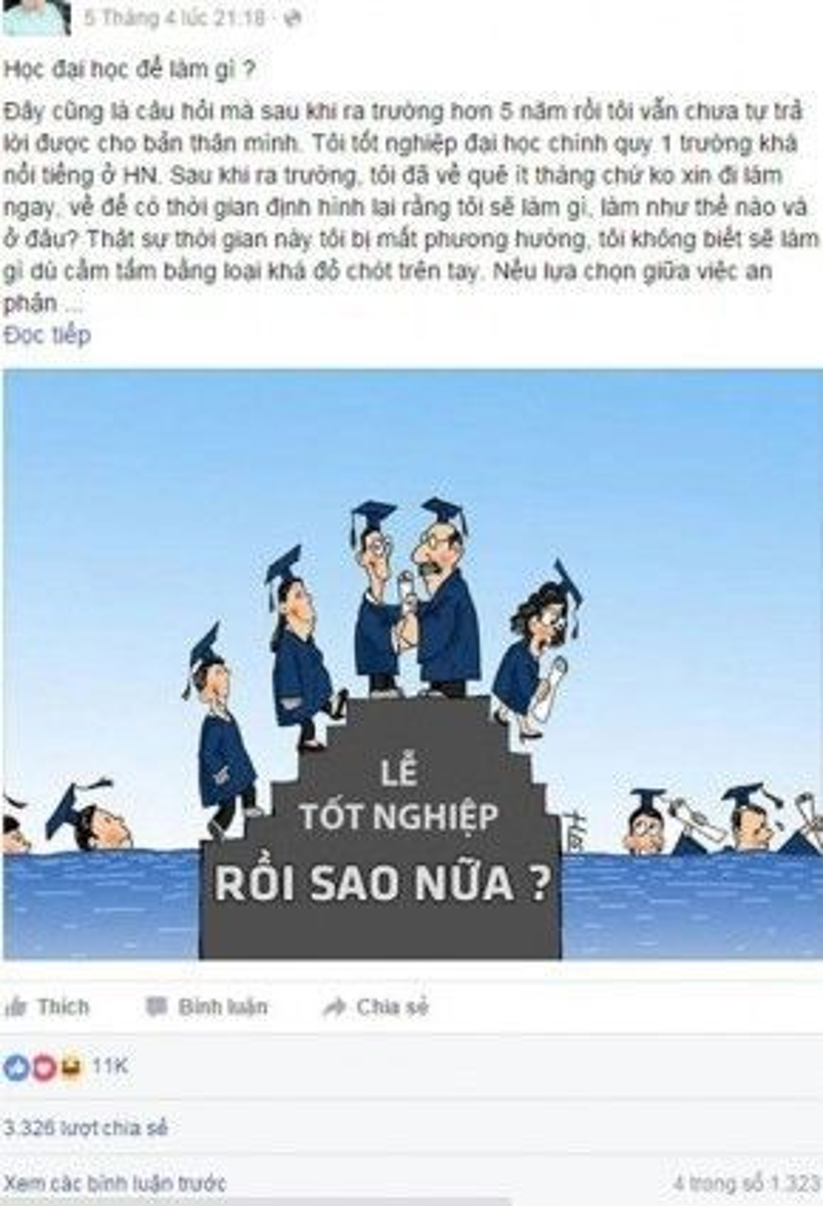 Chia sẻ gây sốt của Lê Hải Sơn trên Facebook cá nhân.