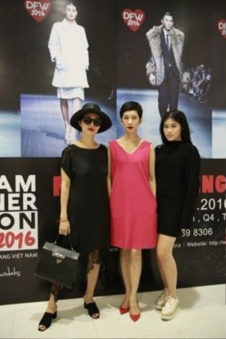 NTK Li Lam, Siêu mẫu Xuân Lan và Stylist Hà Phương.
