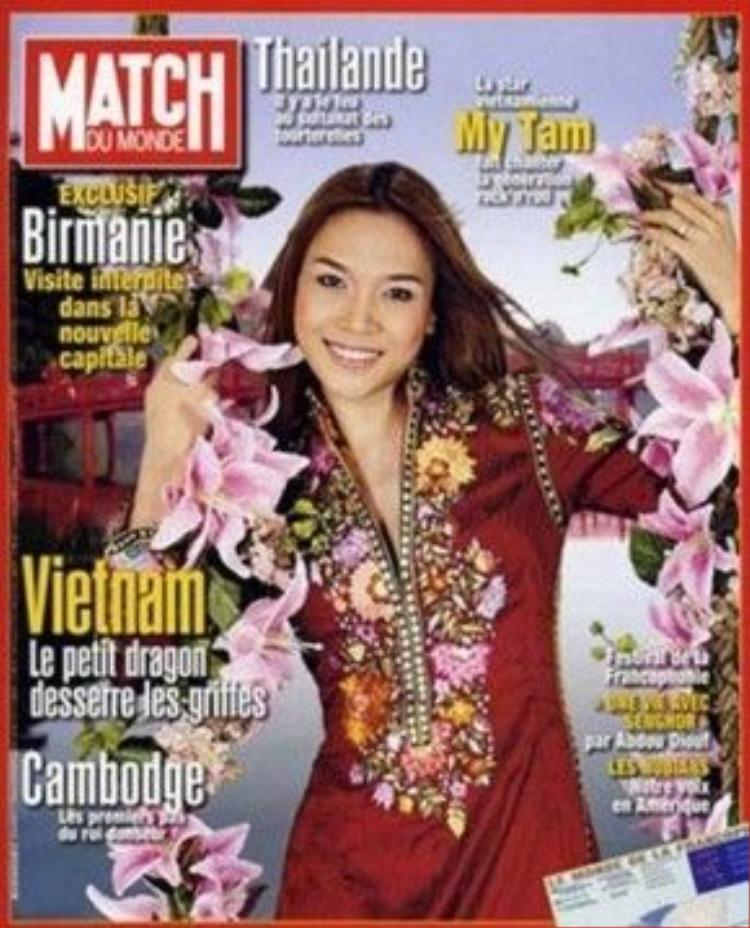 Mỹ Tâm trong lần xuất hiện trên trang bìa tạp chí Match Du Monde của Pháp.