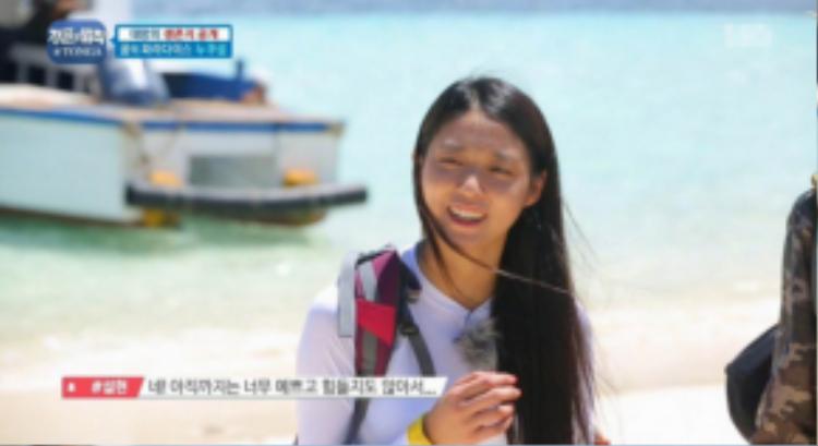 Seolhyun không ngần ngại khoe mặt mộc trên Law Of The Jungle.