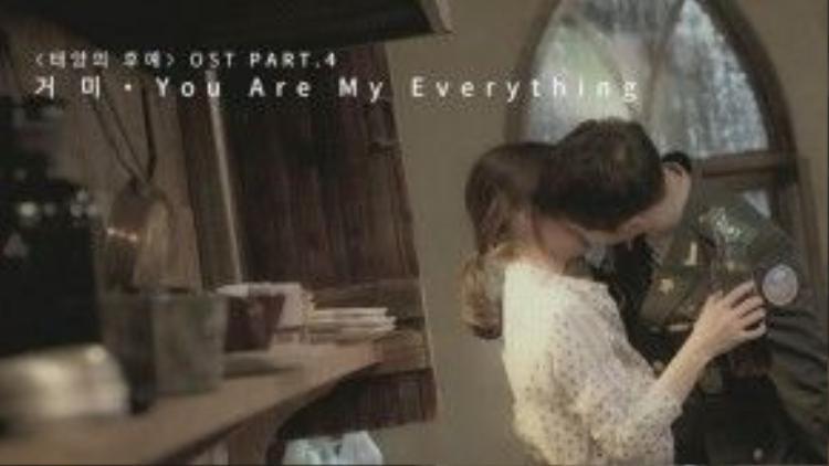 'You are my everything, bỗng đến bên em như sao trời. Chính là anh, đã khiến cho tim em rung động'…