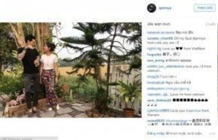 Fans Việt còn liên tục khen sự đẹp đôi của Lee và người yêu ngoài đời của mình.