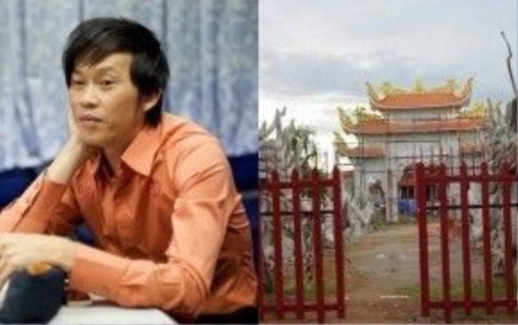Nhà thờ Tổ của Hoài Linh phải ngừng thi công vì vi phạm Luật đất đai.