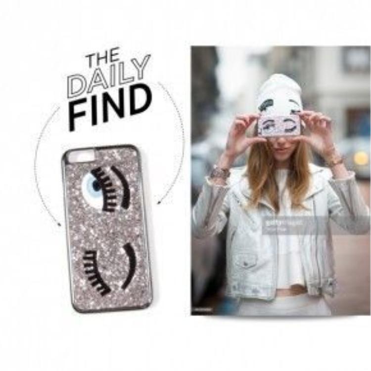Case điện thoại lấp lánh được thiết kế bởi blogger thời trang hàng đầu Chiara Ferragni.