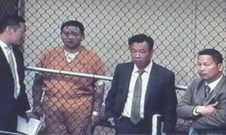 Minh Béo trong phiên tòa đầu tiên.