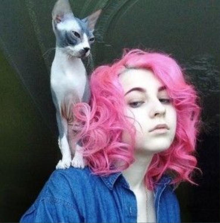 Katichka bên chú mèo cưng, 2 nhân vật được rất nhiều sự quan tâm của giới trẻ.