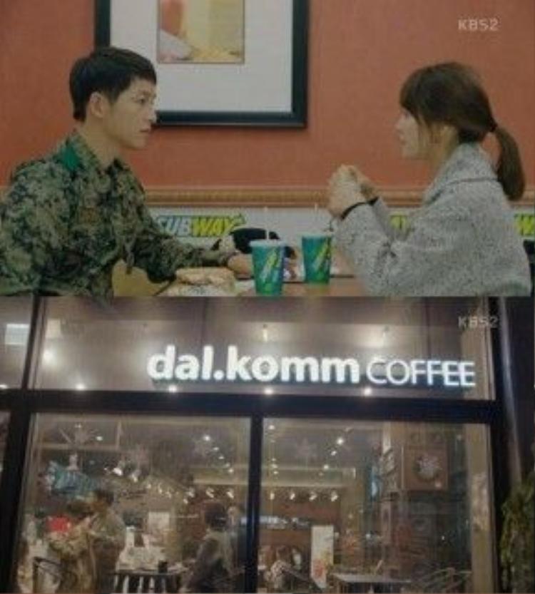Hình ảnh các thương hiệu quảng cáo hiện rõ trong phim. Ảnh: Mydaily.