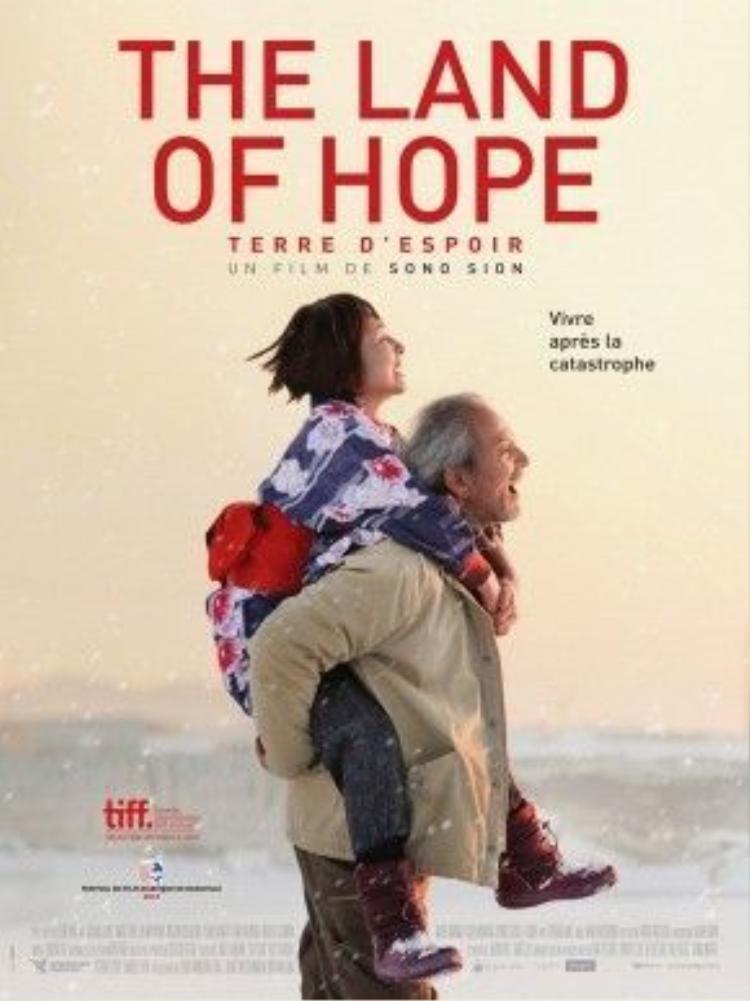 Poster của The Land Of Hope với sự xuất hiện của hai nhân vật ông bà Ono