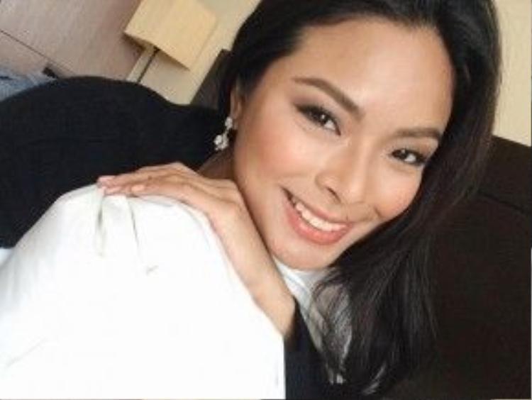 Cận cảnh khuôn mặt xinh đẹp của tân Hoa hậu hoàn vũ Philippines.