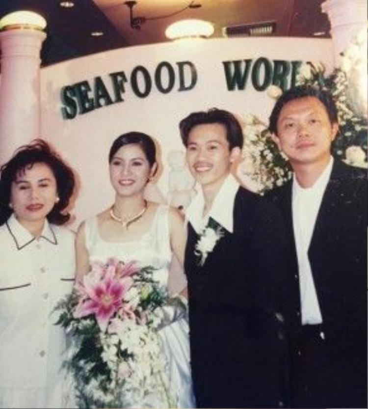 Hình ảnh cưới hiếm hoi của Hoài Linh cách đây 20 năm vô tình bị MC Kỳ Duyên để lộ trên trang cá nhân.