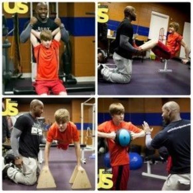 Justin Bieber những ngày đầu tập luyện năm 2011