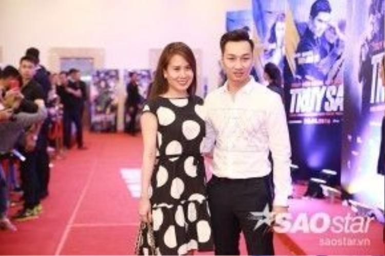 MC Thành Trung và bạn gái.