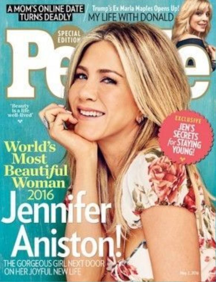 Jennifer Aniston trên trang bìa tạp chí People.