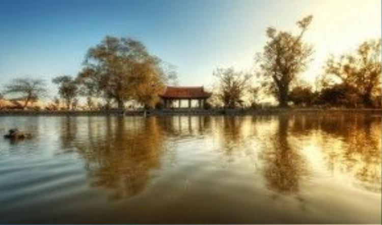Cổng tam quan ở chùa Keo - Thái Bình.