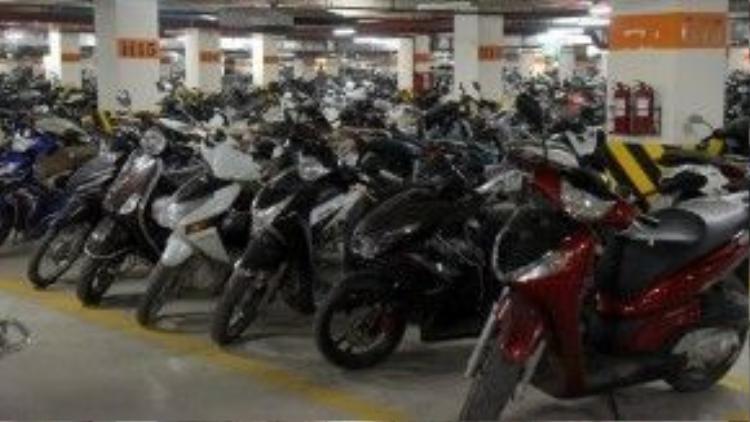 Ở Hà Nội, hầu như mỗi người đều sở hữu một chiếc xe máy.