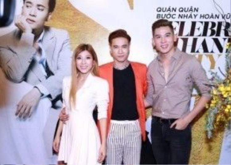 S.T cùng 2 bạn thí sinh thân thiết Minh Trung - Trang Pháp.