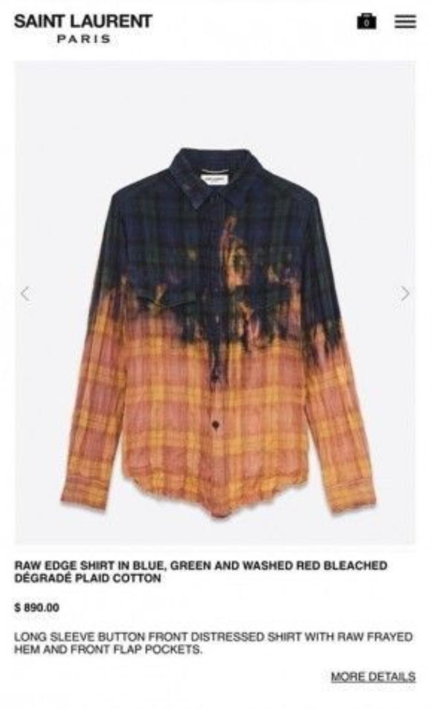 Chiếc áo màu loang có giá hơn 20 triệu.