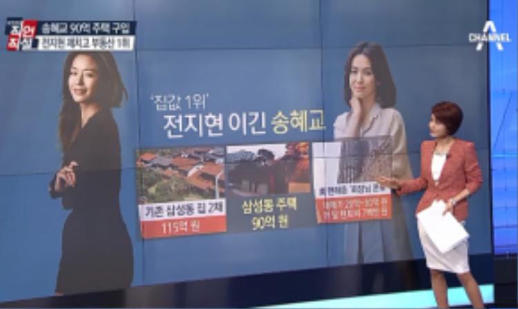 Song Hye Kyo đánh bại Jeon Ji Hyun về giá trị bất động sản.