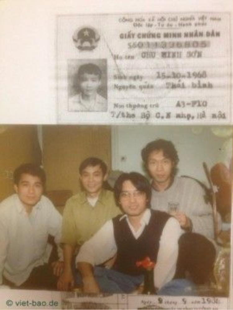 Thông tin về anh Sơn (người mặc áo vàng trong bức ảnh).