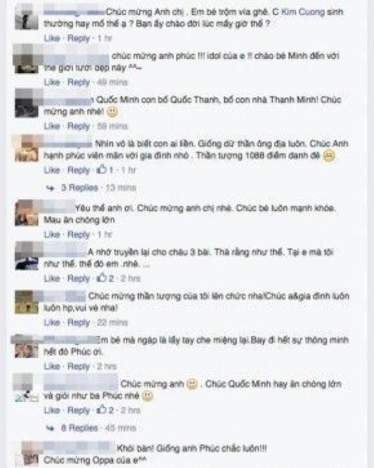 Ngay sau khi đăng tải hình ảnh, chia sẻ của Ưng Hoàng Phúc nhanh chóng thu hút hàng chục nghìn lượt like và bình luận. Ai ai cũng gửi lời chúc mừng vợ chồng Ưng Hoàng Phúc.