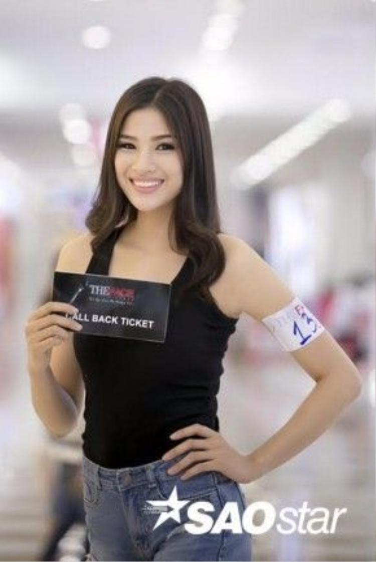 Cô nàng đã nhận được tấm vé Call Back Ticket để lọt tiếp vào vòng sau của The Face Vietnam