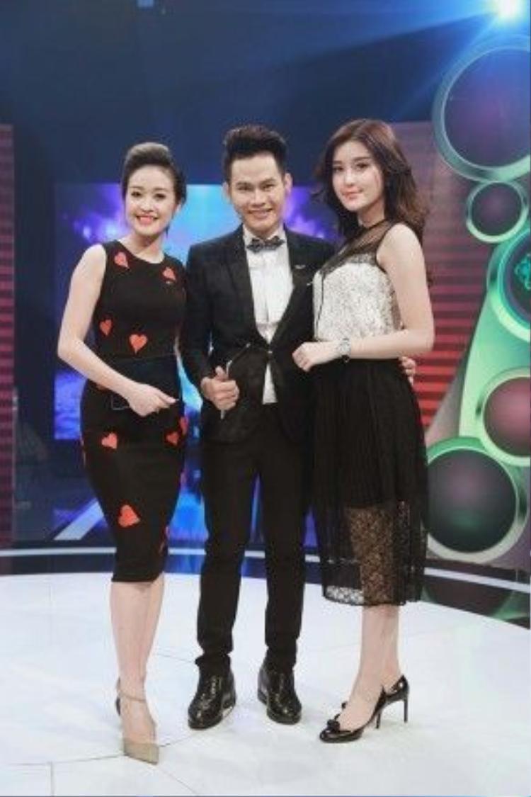 Tham gia chương trình, Á hậu Huyền My cũng có cơ hội gặp gỡ với hai MC của chương trình là Hồng Phúc và Phí Thùy Linh.
