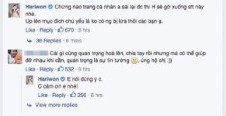 Nữ ca sĩ chia sẻ thêm, khi nào Tiến Đạt dùng lại Facebook thì bản thân sẽ xóa chia sẻ này đi.