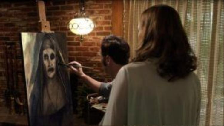 """Ma Sơ """"đẹp kinh dị"""" ngay cả khi chỉ tồn tại trên bức tranh."""