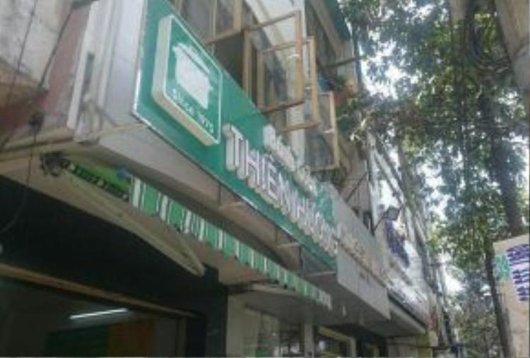 Quán bánh cuốn Thiên Hương - nơi xảy ra vụ việc khách hàng và nhân viên bảo vệ ẩu đả nhau đổ máu.