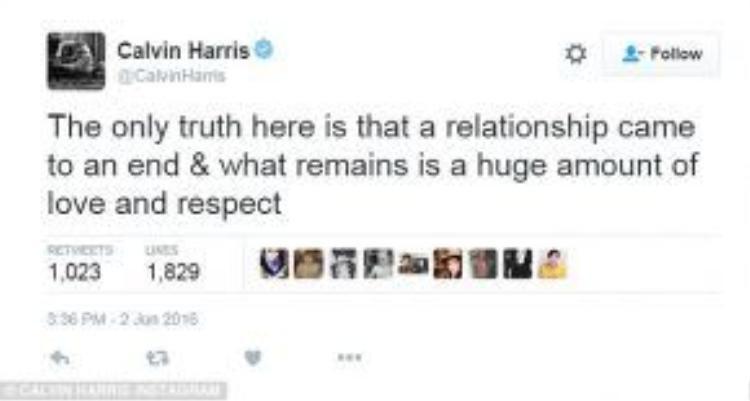 Calvin Harris lên tiếng vẫn ủng hộ và yêu mến Taylor.