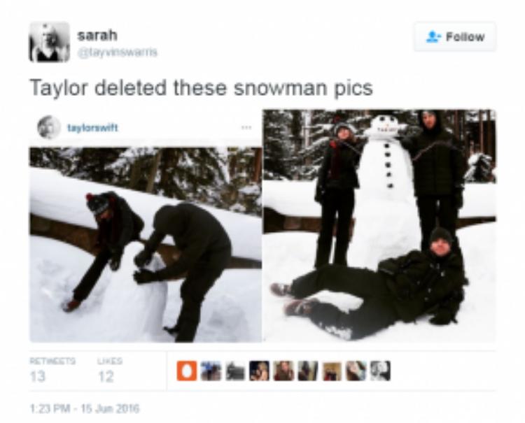 Taylor cũng xóa ảnh chung của hai người sau khi công khai hình ảnh bên Tom.