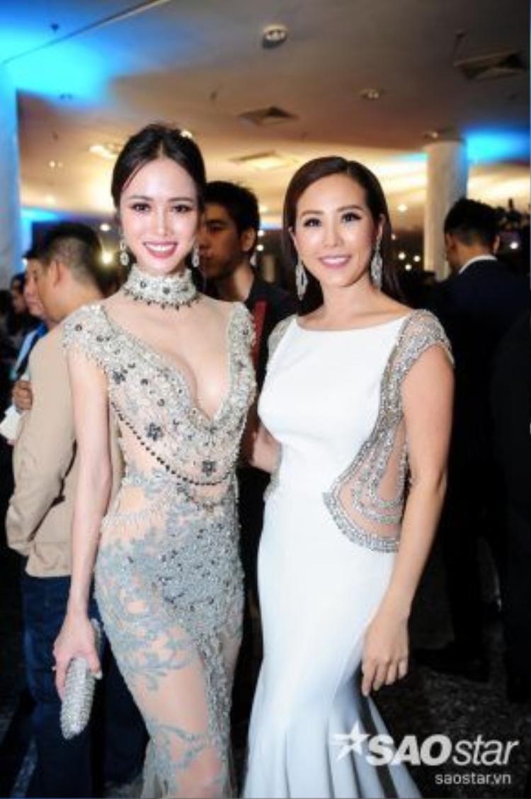 Cặp đôi có dịp gặp gỡ diễn viên Hiếu Nguyễn, Hoa hậu Thu Hoài.